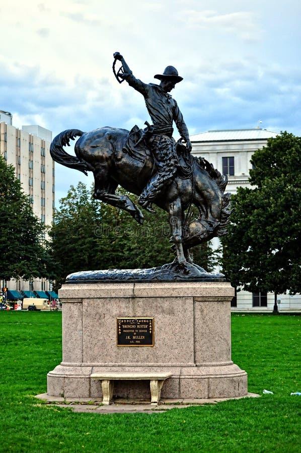 Statue de Denver le Colorado image libre de droits