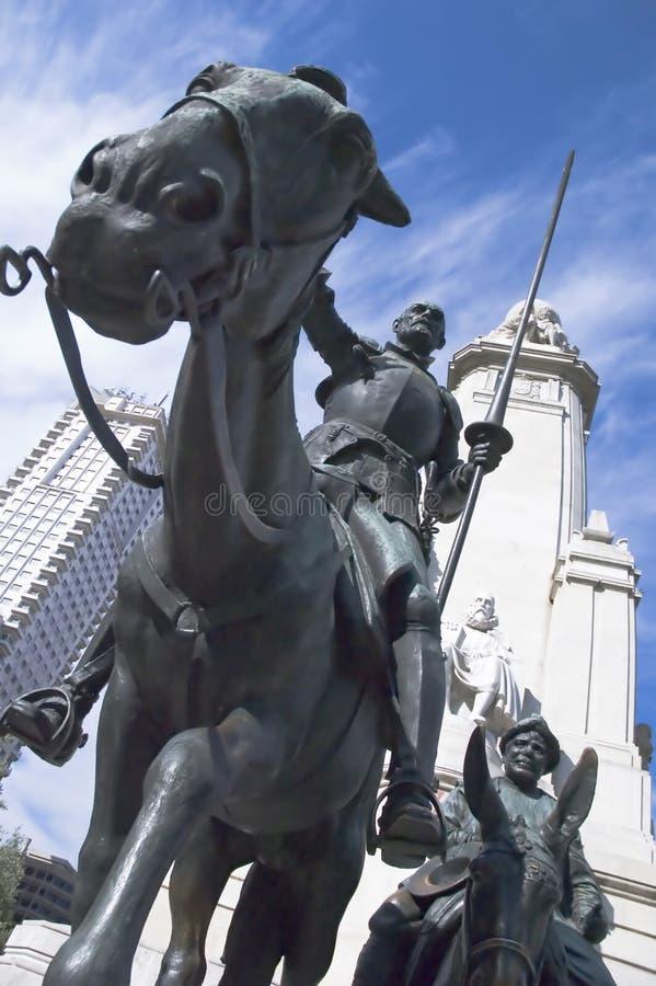 Statue de Don don Quichotte Madrid image libre de droits