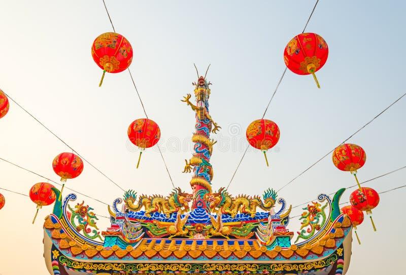 Statue de dragon de style chinois images libres de droits