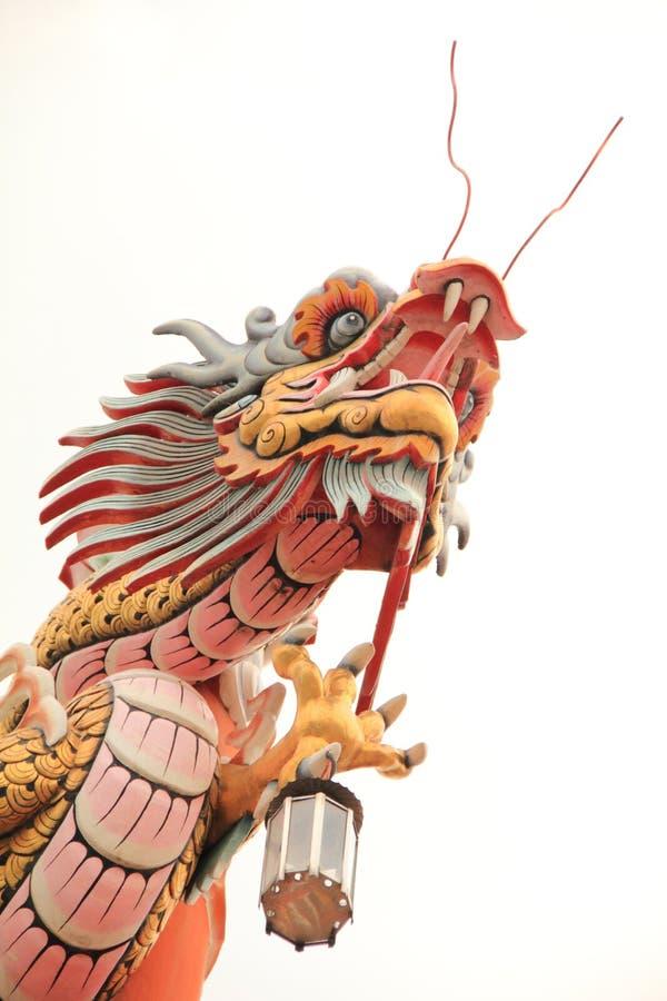 Statue de dragon de type chinois image libre de droits