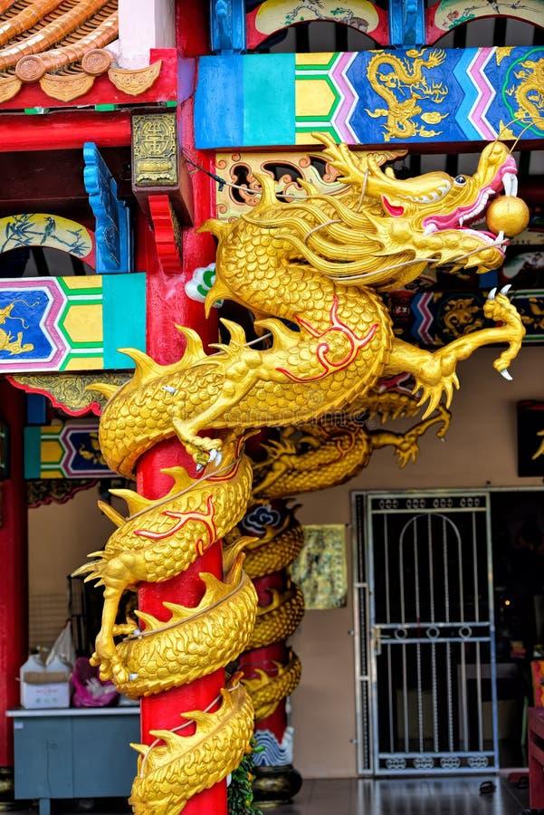 Statue de dragon de type chinois image stock