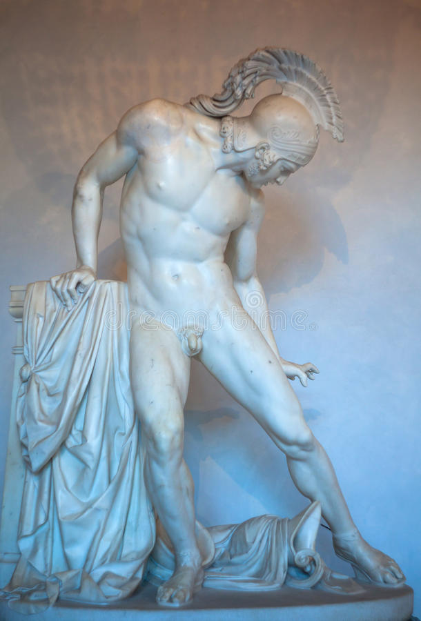 Statue de ferito d'Achille photographie stock