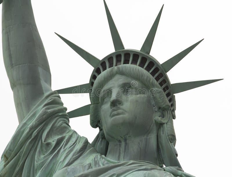 Statue de fin de liberté vers le haut sur le visage images stock