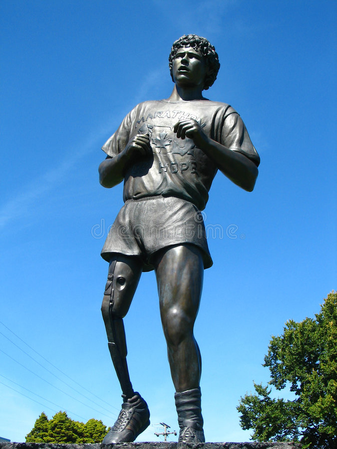 Statue de Fox de Terry dans Victoria photo libre de droits