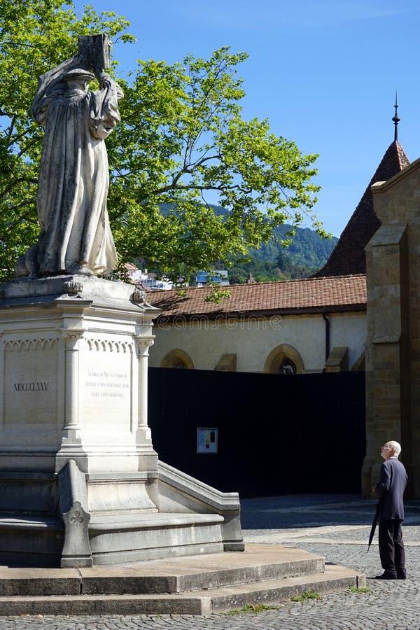 Statue de G. Farel stock image