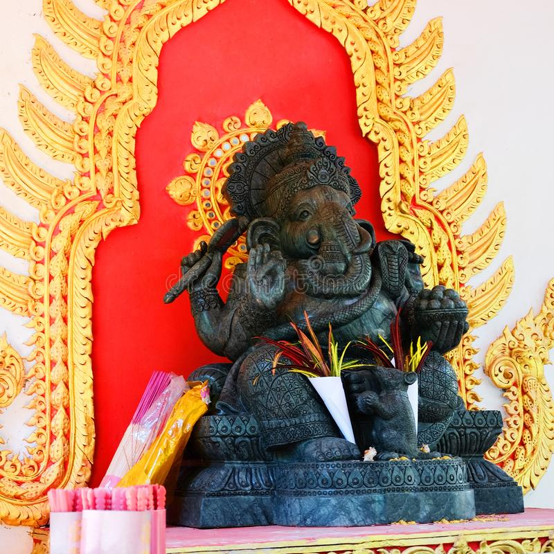 Statue de Ganesha dans Changrai, Thaïlande, indoue photo stock