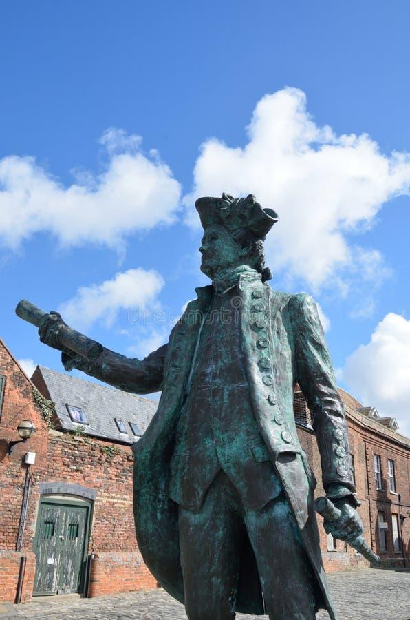 Statue de George Vancover Kings Lynn image libre de droits