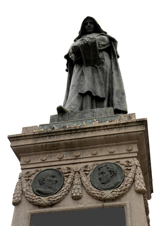 statue de GIORDANO BRUNO qui a été excommunié et incarcéré images libres de droits