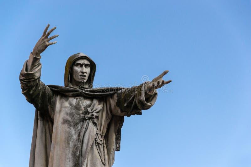 Statue de Girolamo Savonarola images stock