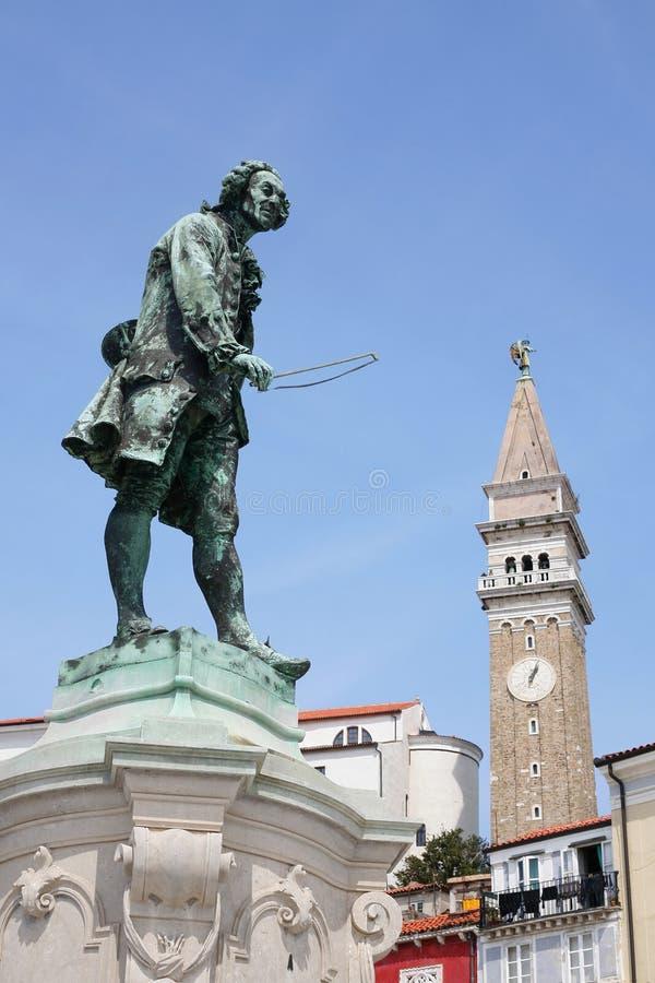 Statue de Giuseppe Tartini image libre de droits
