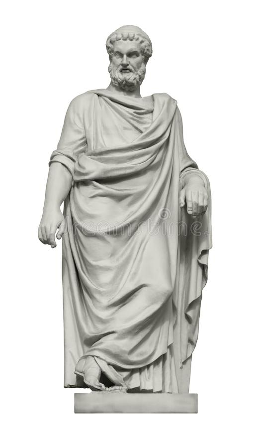 Statue de grand philosophe Plato du grec ancien photographie stock libre de droits