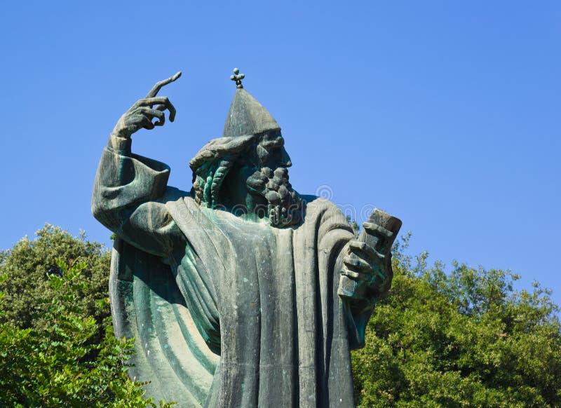 Statue de Gregorius de Nin dans la fente, Croatie photos libres de droits
