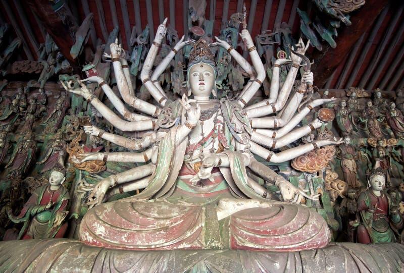 Statue de Guanyin Bouddha photographie stock libre de droits