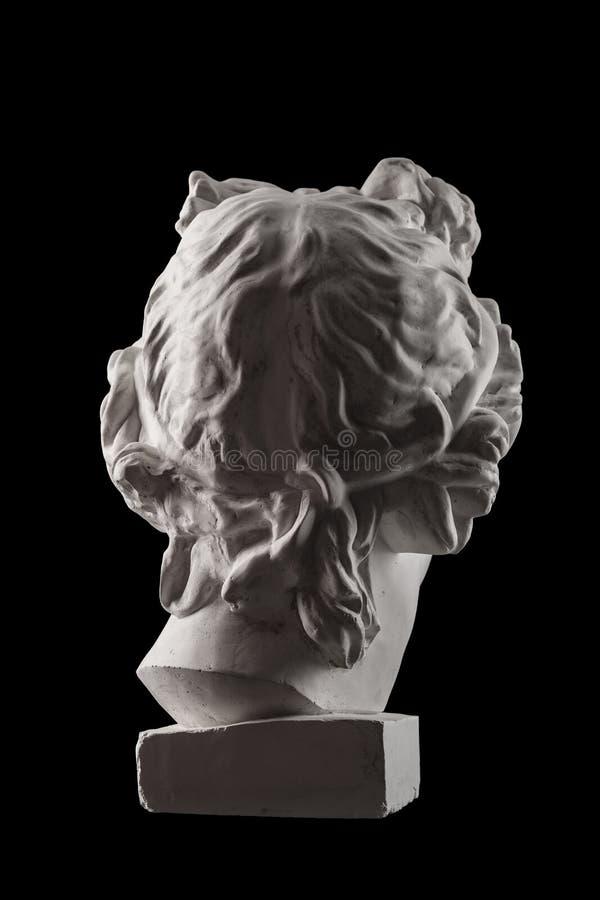 Statue de gypse de tête du ` s d'Apollo photographie stock libre de droits
