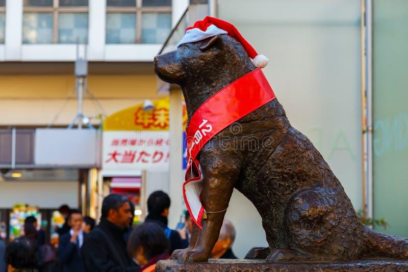 Statue de Hachiko à la station de Shibuya à Tokyo photos stock