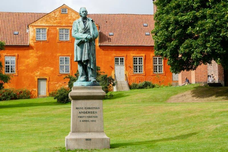 Statue de Hans Christian Andersen Odense, Funen / Danemark images stock