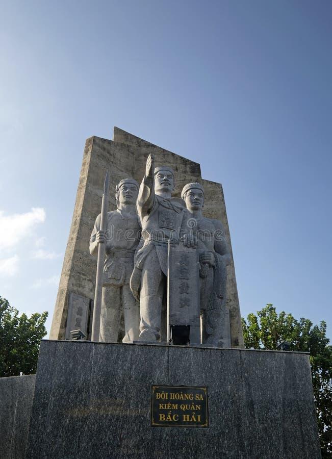 Statue de Hoang Sa en île de fils de la LY photographie stock libre de droits