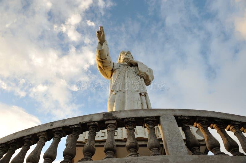 Statue de Jésus au Nicaragua photos stock