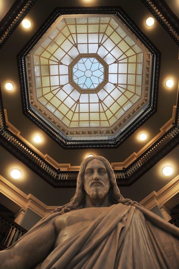 Statue de Jésus en hôpital de Johns Hopkins images stock