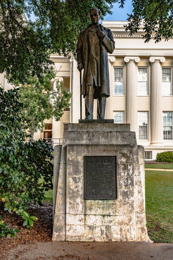 Statue de James Marion Sims à Montgomery photos libres de droits