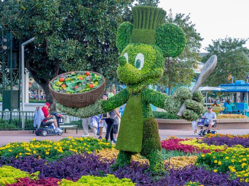 Statue de jardin de Mickey Mouse image stock