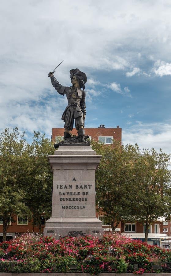 Statue de Jean Bart à Dunkerque, France photographie stock libre de droits