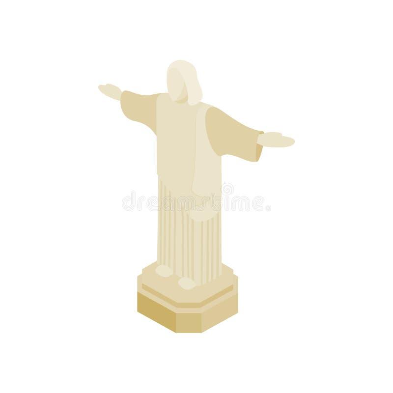 Statue de Jesus Christ, icône de ville de Rio de Janeiro illustration de vecteur