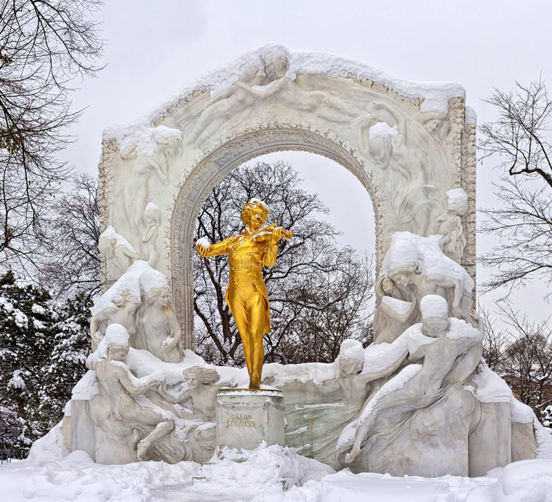 Statue de Johann Strauss à Vienne Stadtpark photographie stock libre de droits