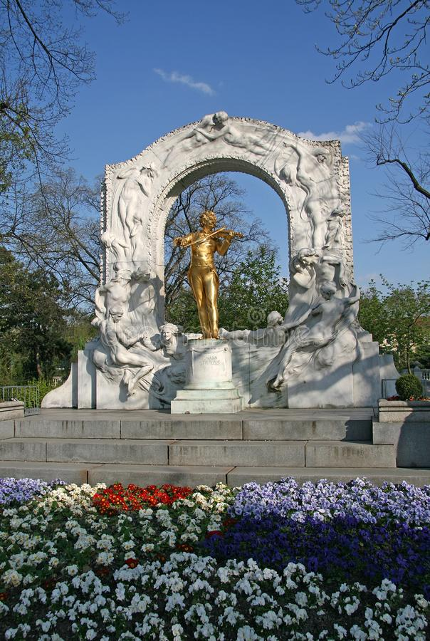 Statue de Johann Strauss à Vienne Stadtpark images libres de droits