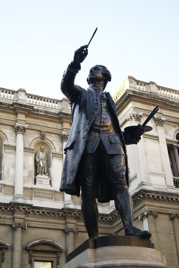 Statue de Joshua Reynolds, Chambre de Burlington, Londres, Angleterre images libres de droits