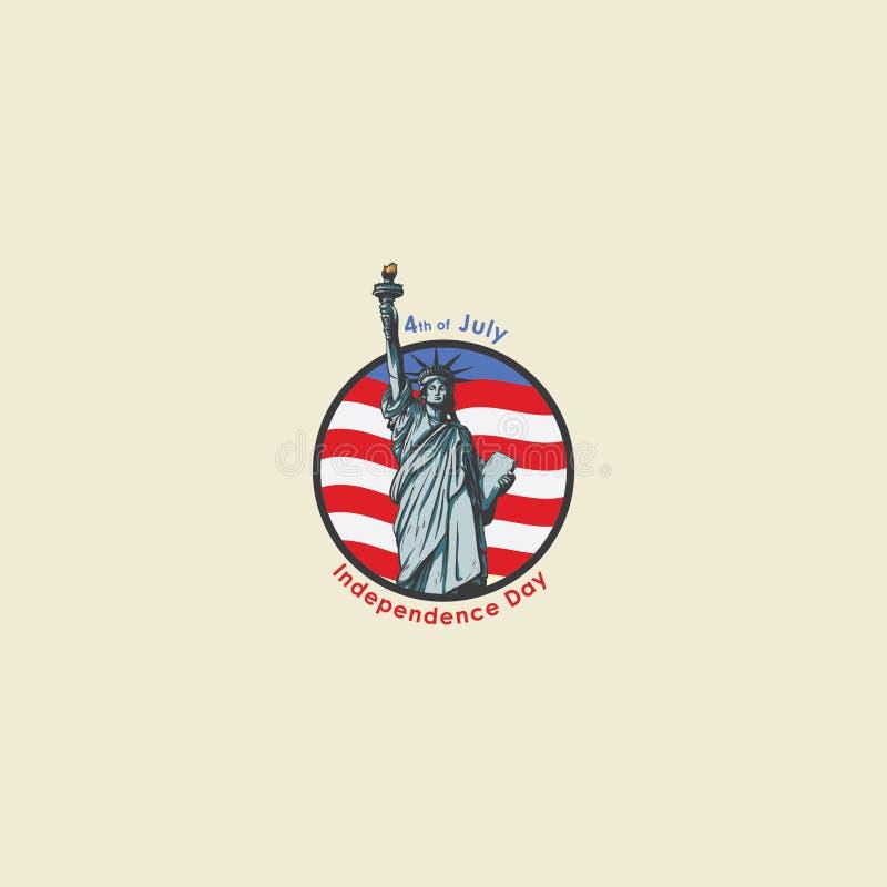 Statue de Jour de la Déclaration d'Indépendance des Etats-Unis pleine image libre de droits