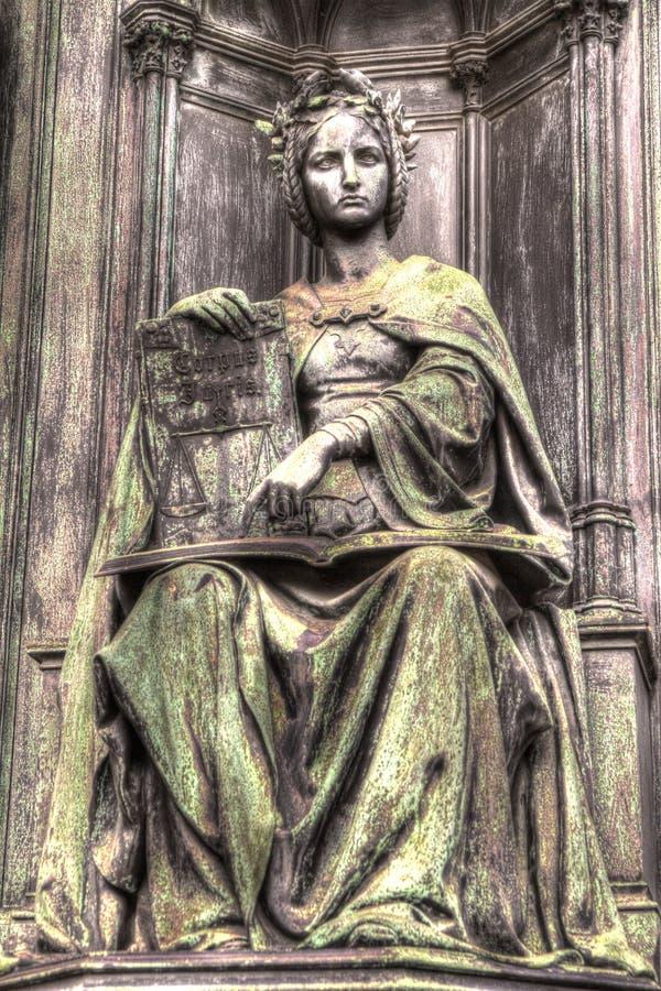 Statue de justice, HDR photo libre de droits