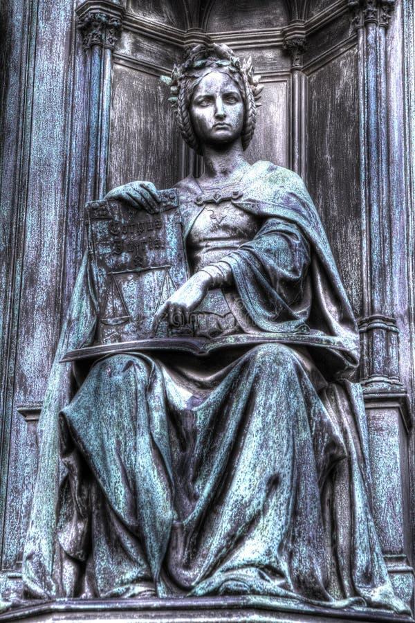 Statue de justice, HDR image stock