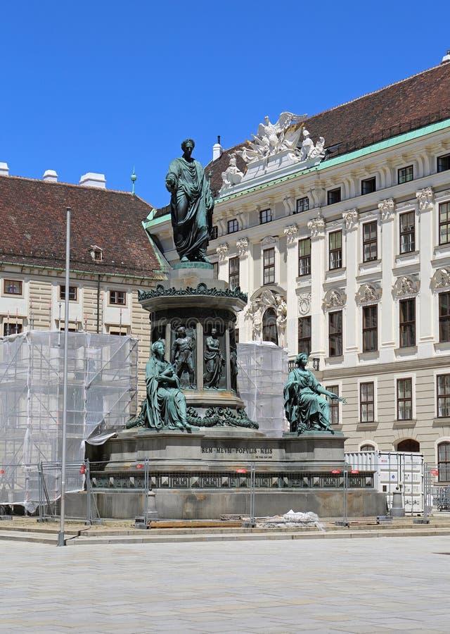 Statue de Kaiser Franz I photographie stock libre de droits