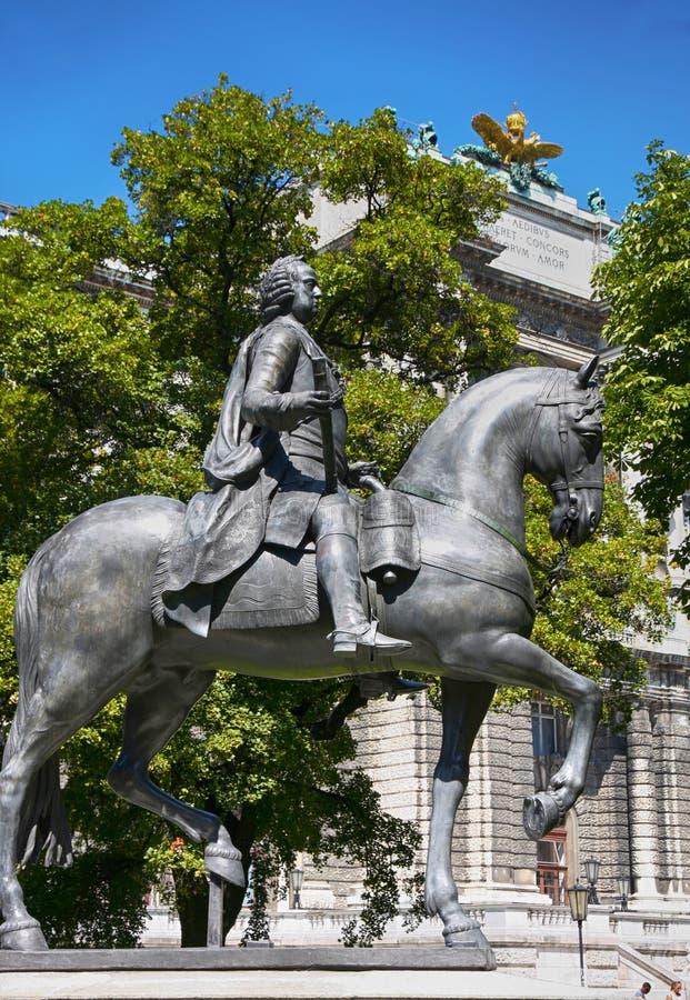 Statue de Kaiser Franz I Stephan von Lothringen à Vienne, Aust images stock