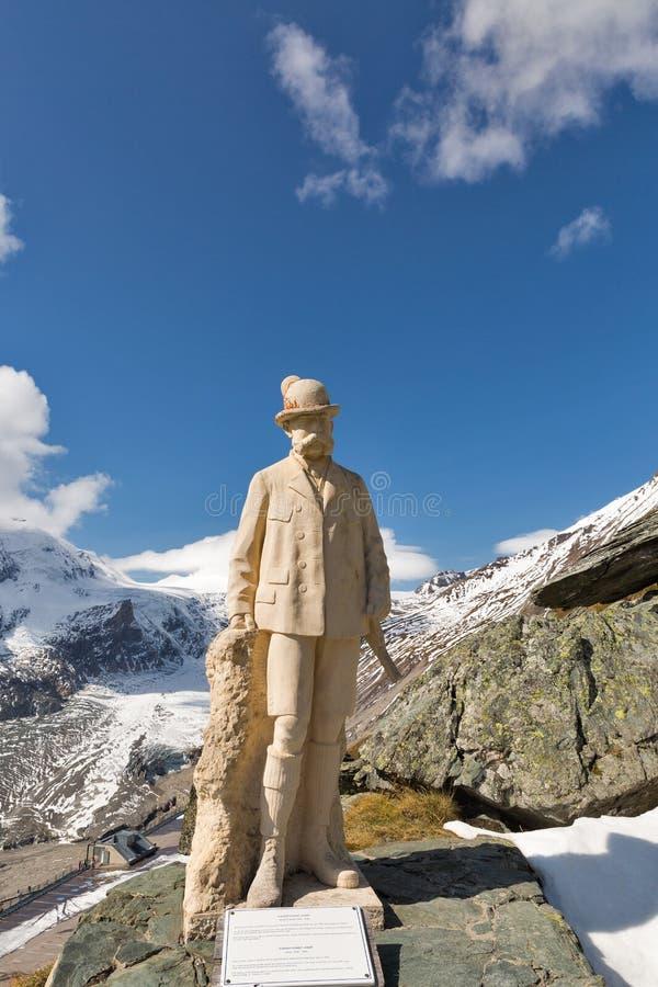 Statue de Kaiser Franz Josef I sur le glacier de Grossglockner, Autriche photographie stock