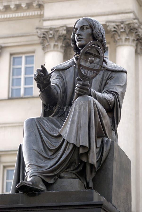 Statue de Kopernikus, Varsovie, Pologne image libre de droits