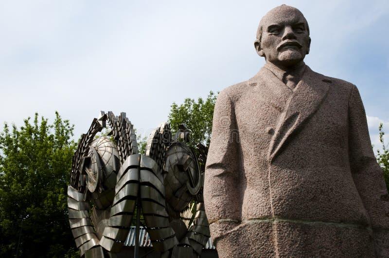Statue de Lénine - parc tombé de monument - Moscou photographie stock libre de droits