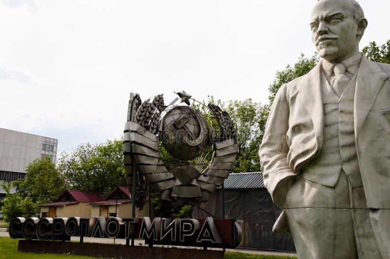 Statue de Lénine - parc tombé de monument - Moscou photo libre de droits