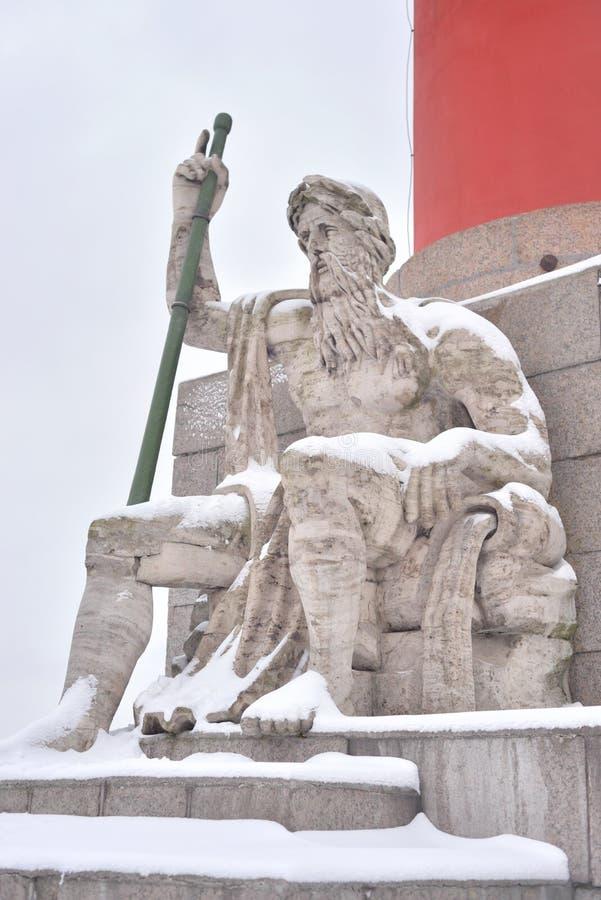 Statue de l'allégorie de la rivière de Dnieper photographie stock
