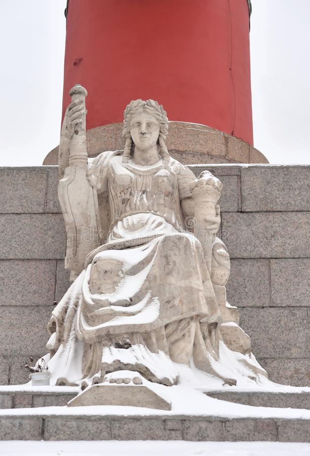 Statue de l'allégorie de la Volga image libre de droits