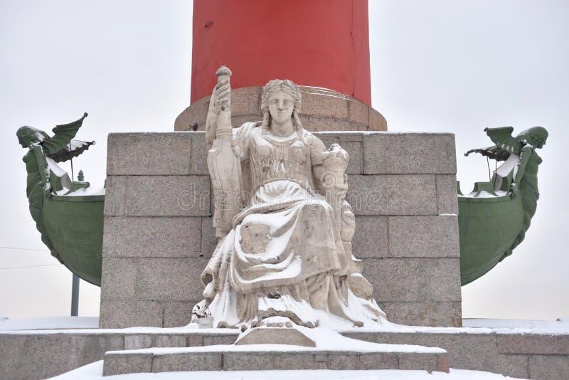 Statue de l'allégorie de la Volga photographie stock libre de droits