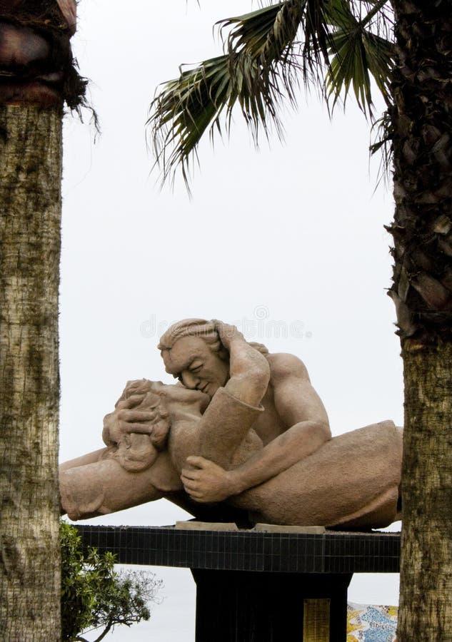 Statue de l'amour au Pérou de Lima photos libres de droits