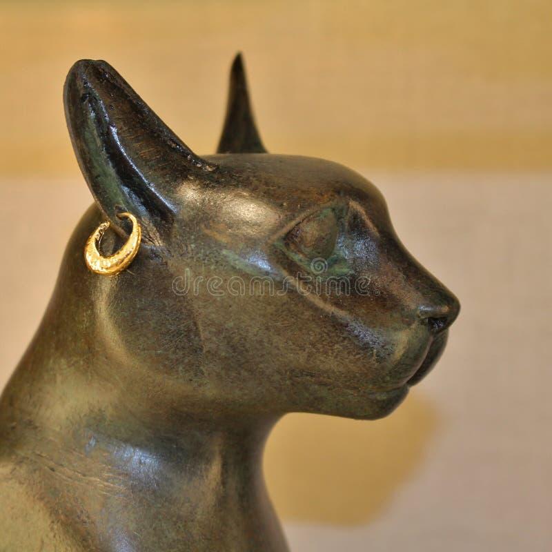 Statue de la déesse Bastet de chat égyptien photos libres de droits