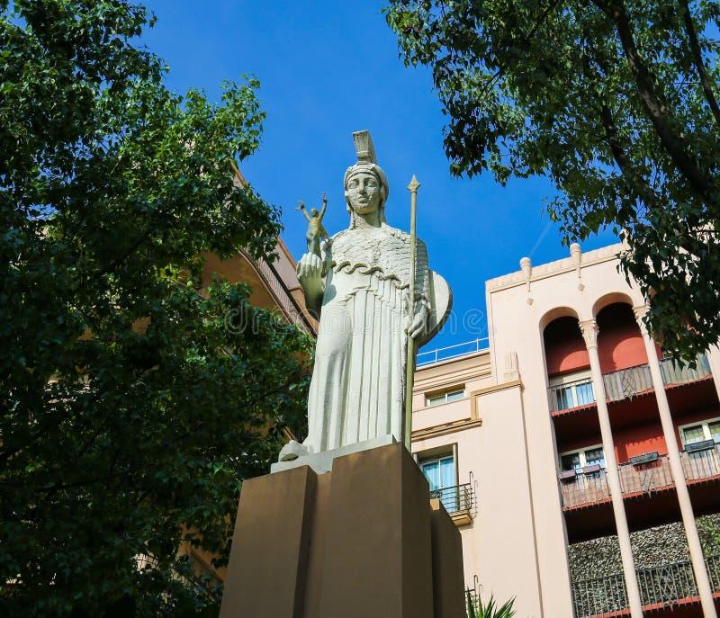 Statue de la déesse grecque Pallas Athena photo stock