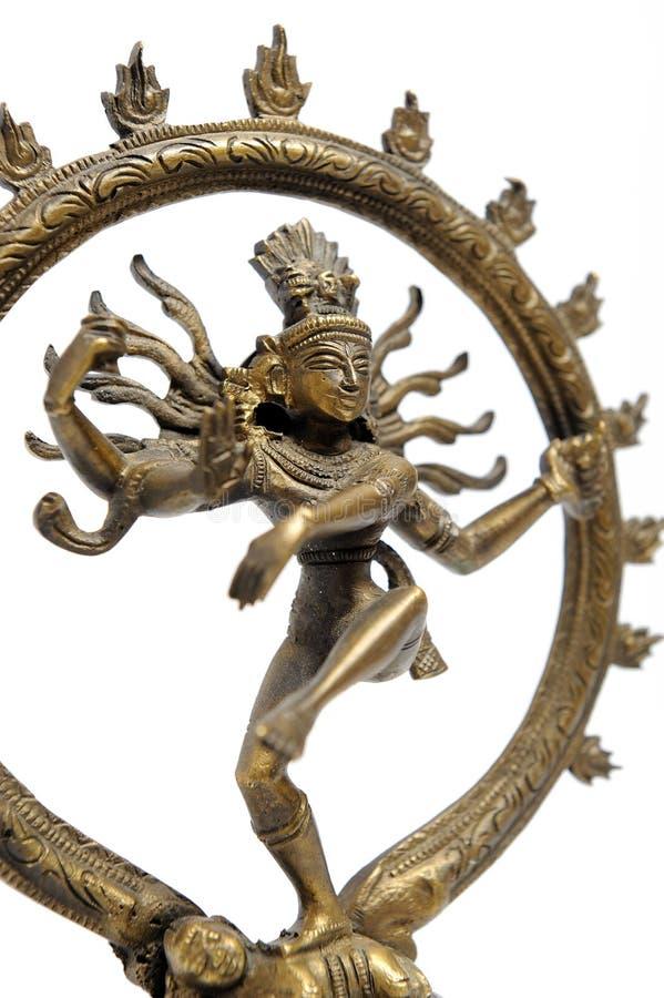 Statue de la danse indoue indienne Shiva Nataraja d'un dieu images libres de droits