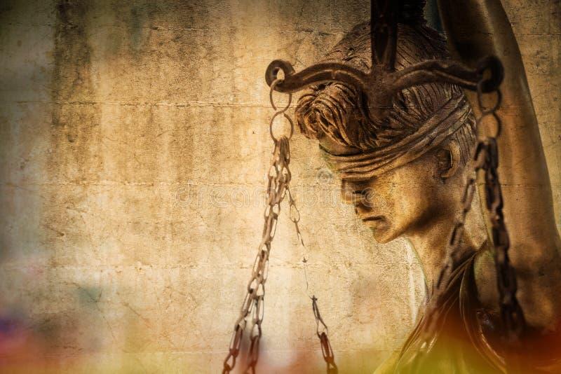 Statue de la justice Closeuse de la justice photo libre de droits