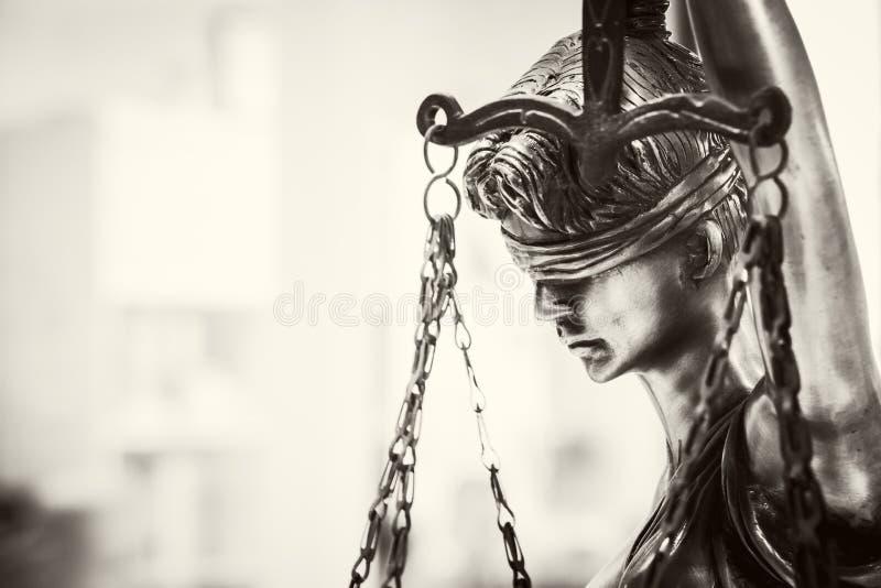 Statue de la justice Justice de Lady photo stock
