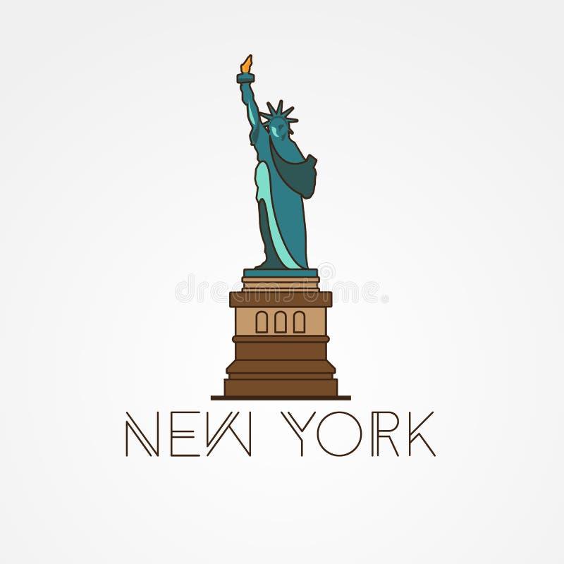 Statue de la liberté - le symbole des USA, New York illustration libre de droits