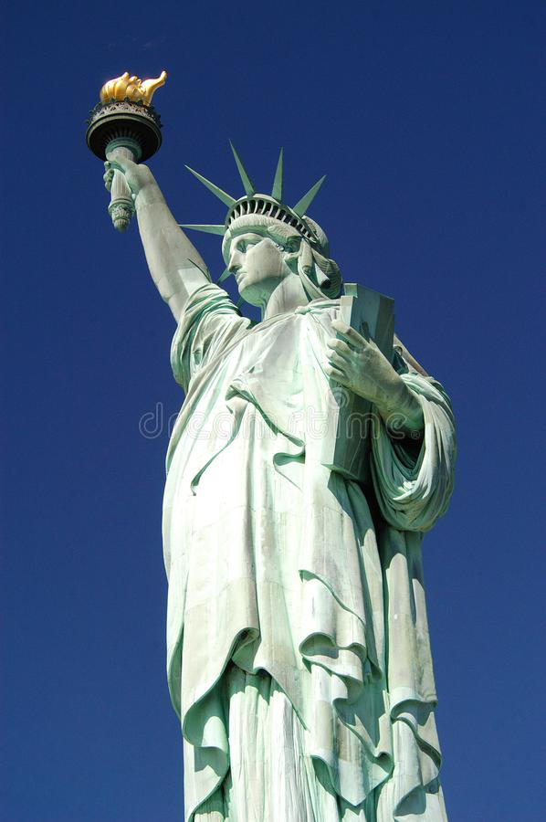 Statue de la liberté, port de New York de ferry photo stock
